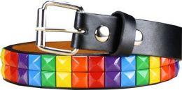 36 of Kids Studded Rainbow Belts