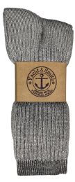 24 Units of Yacht & Smith Mens Terry Lined Merino Wool Thermal Boot Socks - Mens Thermal Sock