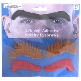 96 Wholesale 3 Assorted Novelty Eyebrows