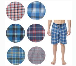 36 Units of Men's Short Cotton Pj Pants With Packets And Strings - Mens Pajamas