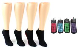 24 of Boy's & Girl's Trampoline NoN-Skid Grip Socks - Assorted Colors - Sizes 4-6