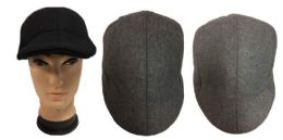24 Units of Ivy Wool Feel Man Caps Driving Caps - Fedoras, Driver Caps & Visor