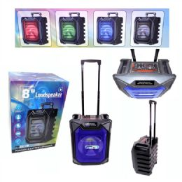 4 Units of 8 Inches Portable Speaker With Trolley - Speakers and Microphones