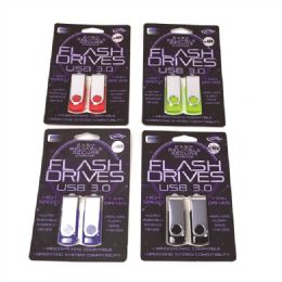 24 Bulk Two Piece 4gb Swivel Usb Dual Pack In Clamshell