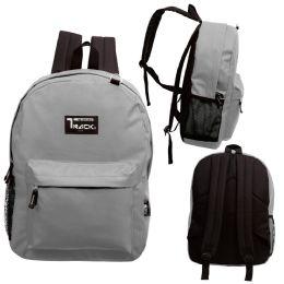 """24 Units of 17 Inch Classic Bulk Backpacks In Grey - Backpacks 17"""""""