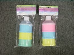 36 Wholesale 3 Section Baby Snack Container