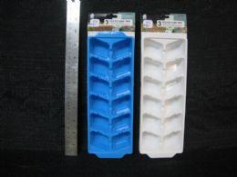 36 Units of 3 Piece Plastic Ice Cube Tray Set - Freezer Items