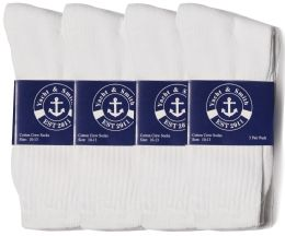 6000 of Yacht & Smith Men's Soft Cotton Crew Socks, Sock Size 10-13, White