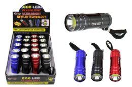 40 Units of Cob Led Metal Promo Flashlight Ultra Bright - Flash Lights