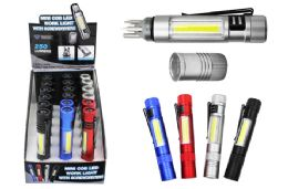 18 Bulk Cob Led Pocket Light With Screwdrivers Ultra Bright