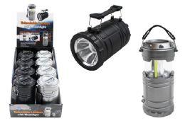8 Units of Cob Led Pop Up Lantern With Flashlight Ultra Bright - Flash Lights