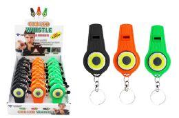 48 Bulk Cob Led Whistle Keychain Ultra Bright