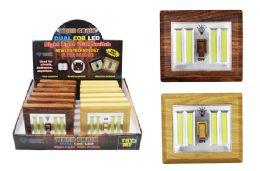12 Units of Cob Led Wood Grain Dual Light Switch Ultra Bright - Lightbulbs
