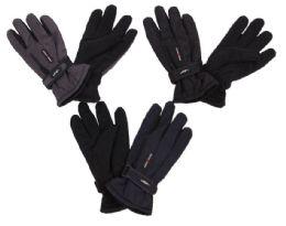 60 Units of Men's Ski Gloves With Velcro Straps - Ski Gloves