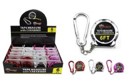 48 Units of Keychain Tape Measure With Carabiner - Tape Measures and Measuring Tools