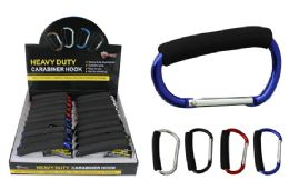 20 Units of Large Carabiner Hook With Foam Grip - Hooks