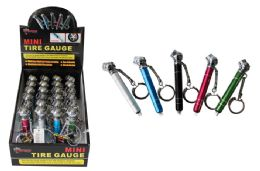 72 Units of Mini Keychain Tire Gauge - Auto Maintenance