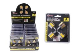 36 Units of Mini Stubby Screwdrivers 4 Piece - Screwdrivers and Sets