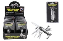 12 Units of Multi Function Pocket Knife With Keychain Clip - Binoculars & Compasses