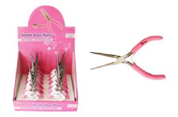 24 Units of Pink Needle Nose Pliers - Pliers