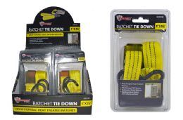 18 Units of Ratchet Tie Down In Display - Hardware Products