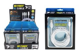 12 Units of 10 Foot Xl Phone Cables At Apple - Cell Phone Accessories