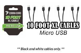 12 Units of 10 Foot Xlarge Phone Cables Micro Usb - Cell Phone Accessories