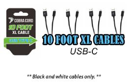 12 Units of 10 Foot Xlarge Phone Cables Usb Cable - Cell Phone Accessories