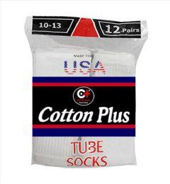 5040 Units of Men's Long White Tube Socks, Size 10-13 - Mens Tube Sock