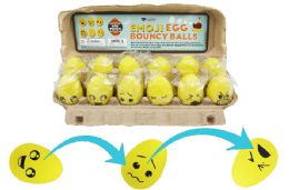 72 Bulk Bouncy Egg Ball Emoji