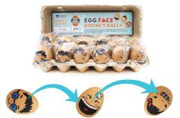 72 Bulk Bouncy Egg Ball Faces