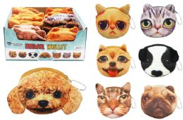 72 Units of Cat Dog Plush Coin Purse - Coin Holders & Banks