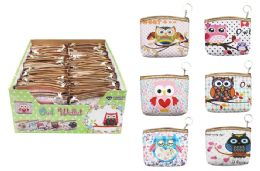 72 Units of Owl Keychain Coin Purse - Coin Holders & Banks