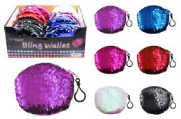 48 Units of Sequin Coin Purses - Coin Holders & Banks