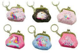 48 Units of Unicorn Mini Coin Purse Keychain - Coin Holders & Banks