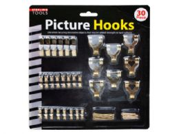 18 Units of 30 Pack Picture Hanging Hooks - Hooks
