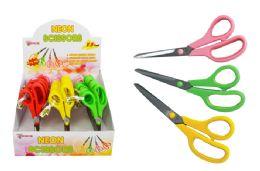 30 Bulk Neon Cushion Grip Scissors