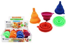 36 Units of Silicone Collapsible Funnel - Strainers & Funnels