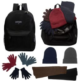 12 Bulk 12 Backpacks And 12 Winter Item Sets
