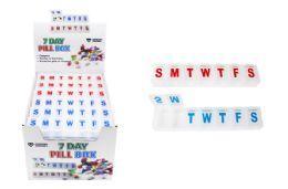 36 Bulk Compact 7 Day Pill Box