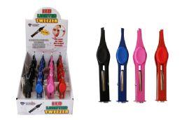 24 Bulk Led Tweezers Assorted Colors