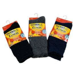 24 Bulk Men's Extreme Thermal Crew Socks 10-13