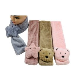 48 Units of Child's Super Soft Scarf [bears & Stars] - Winter Scarves