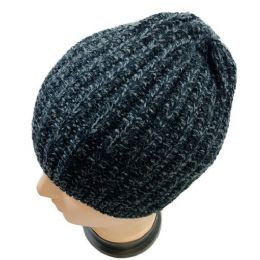 36 Units of Adults Black/gray Variegated Stretch Beanie - Winter Hats