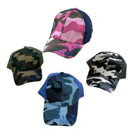 36 Wholesale Child's Camo Ball CaP--Assorted Boys And Girls
