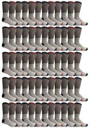120 Bulk Yacht & Smith Mens Thermal Socks, Warm Cotton, Sock Size 10-13