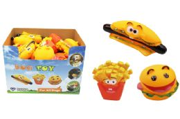 36 Units of Squeaky Food Dog Toy - Pet Toys