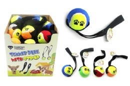 36 Units of Tennis Ball With Strap - Pet Toys