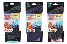 48 Units of Ladies Thermal Book Sock - Womens Thermal Socks