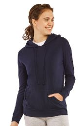 24 Units of Women's Lightweight Pullover Hoodie Navy - Womens Active Wear